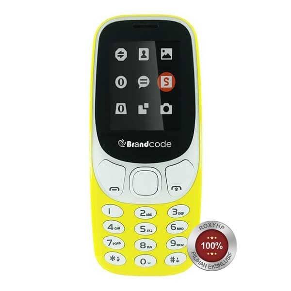 harga Brandcode b3310 new dual sim gsm - yellow - garansi resmi Tokopedia.com