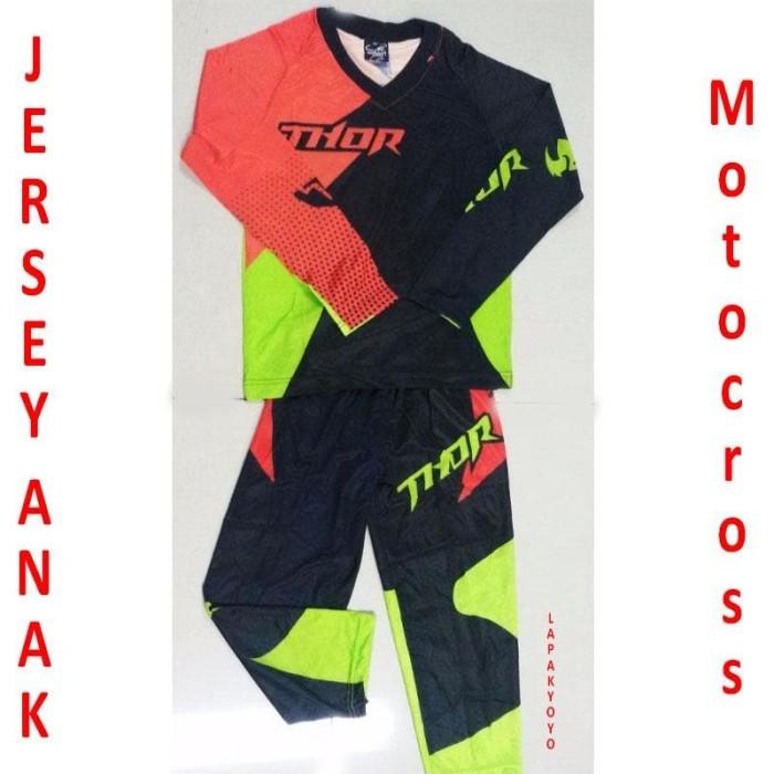 harga Jersey anak thor sepeda motocross setelan Tokopedia.com