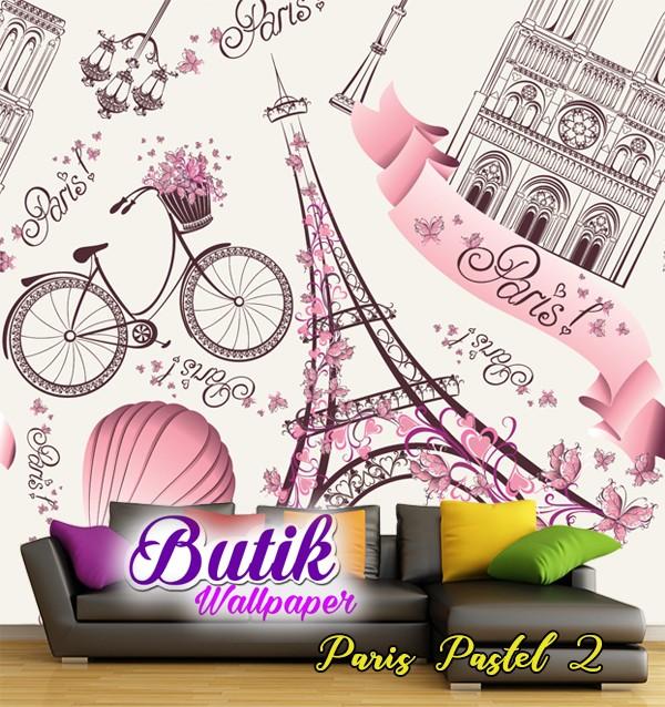 Jual Wallpaper Custom Paris Pastel 2 Kota Bekasi Butik