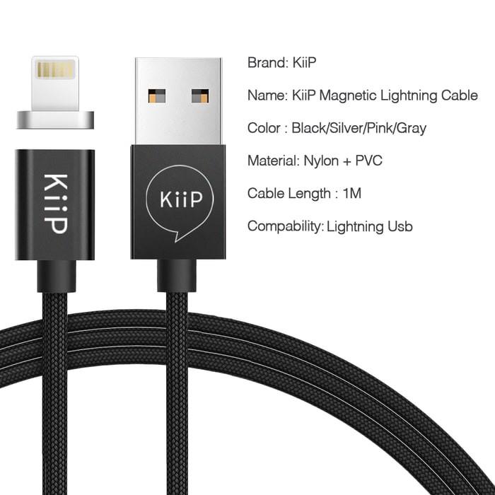 100% KUALITAS TERBAIK Kabel data Magnetic USB Type C/Micro/ Lightning