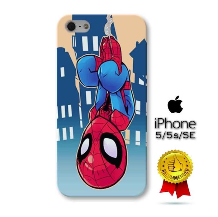 Casing Custom 3D Hard Case iPhone 5 5s SE Spiderman Marvel Superhero