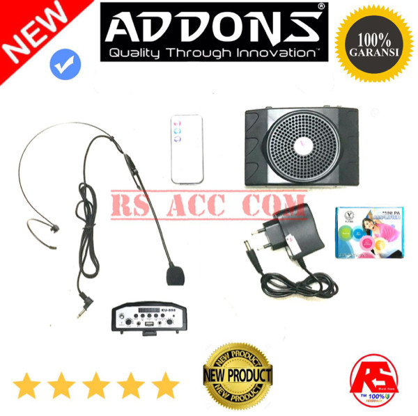 harga Mini pa speaker amplifier headset mic addons original Tokopedia.com