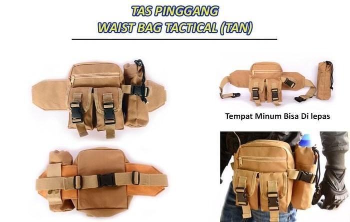 ... harga Tas pinggang tactical botol minum army waist bag travel outdoor Tokopedia.com