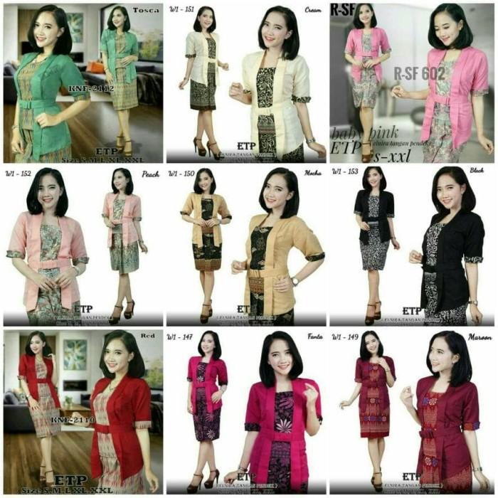 Kembar Kebaya Kutubaru Mini Dress Elnira Ready Size M, L & XL