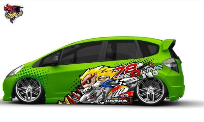 Jual Cutting Sticker 3d Mobil Honda Jazz Agya Ayla Ignis Dbs