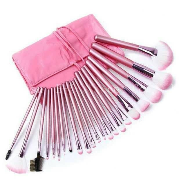 harga Set kuas make up pink brush 22 pcs pouch pinky girl Tokopedia.com