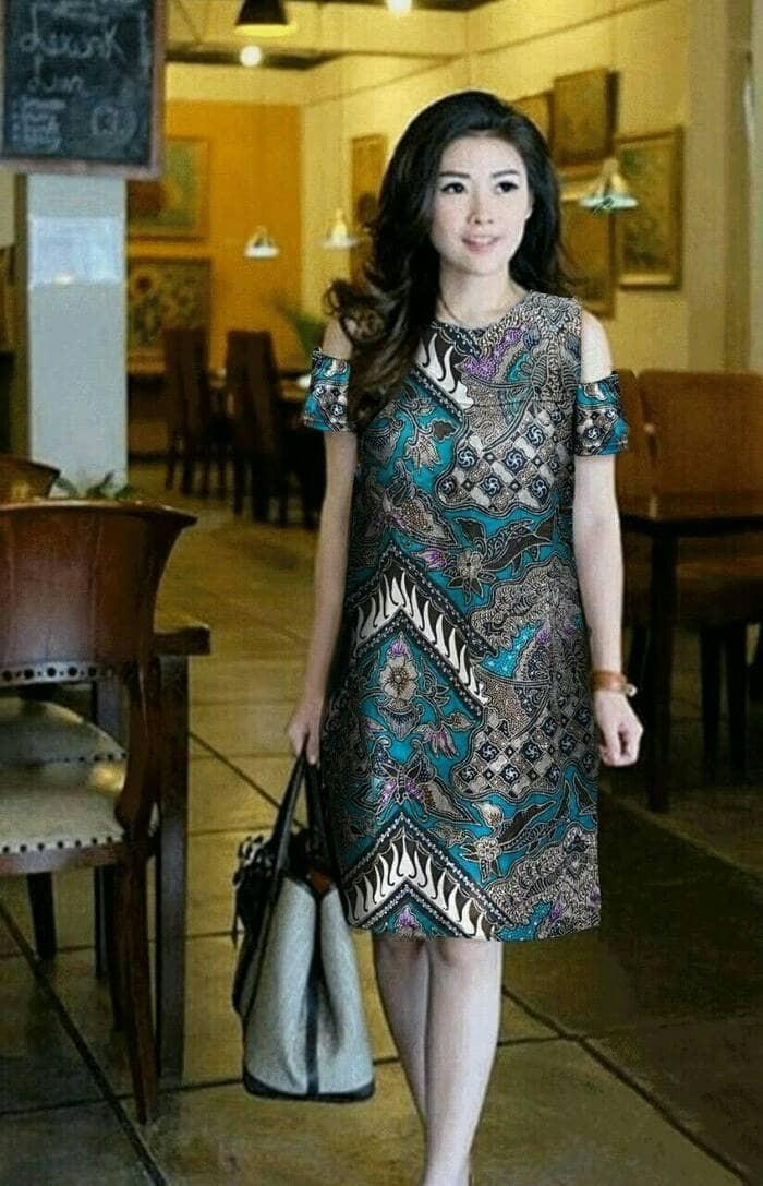 Dress batik katun nabila