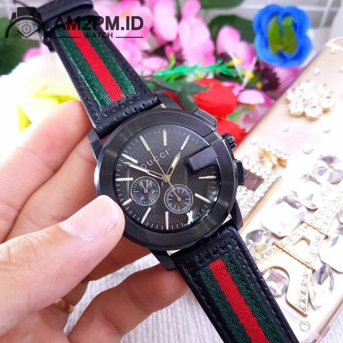 8cfc96bc171 Jual Suplier Jam Tangan Gucci G-Chrono Black - AM2PMID