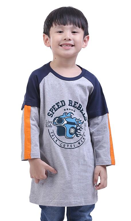 0775t kaos anak laki-laki/oblong/t-shirt anak cowoklengan panjang
