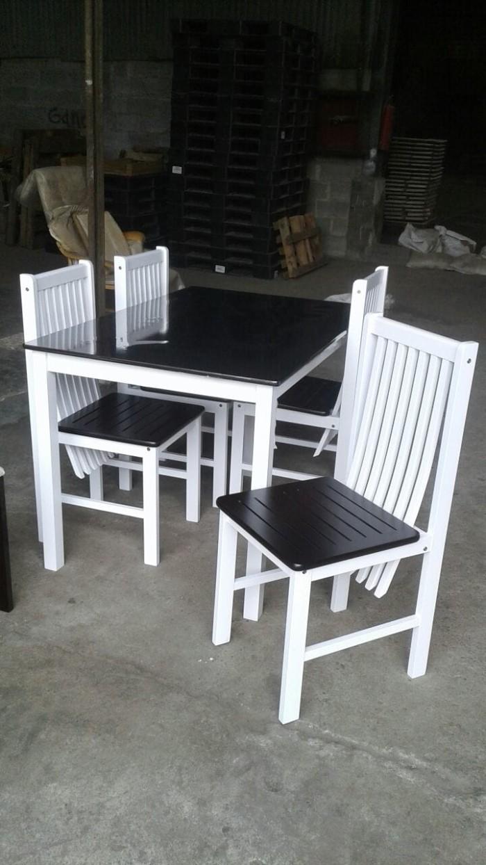 Jual 1 Set Meja Makan Kayu Minimalis Feivel Furniture Tokopedia