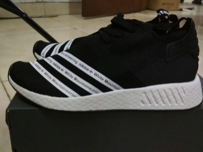 purchase cheap b21eb 35212 Jual White Mountaineering x adidas NMD R2 Black - hitam putih - Kab.  Tangerang - Jkers | Tokopedia
