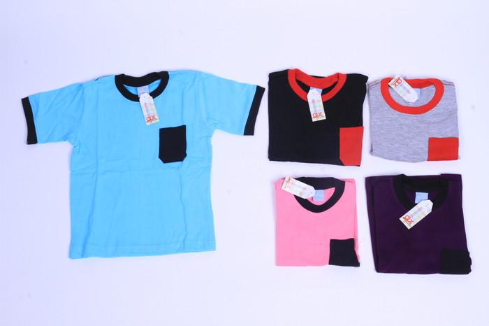 Foto Produk  Jual  Baju Kaos Pocket Anak 3-5thn Baju Anak Murah Grosir dari Fathiyastore