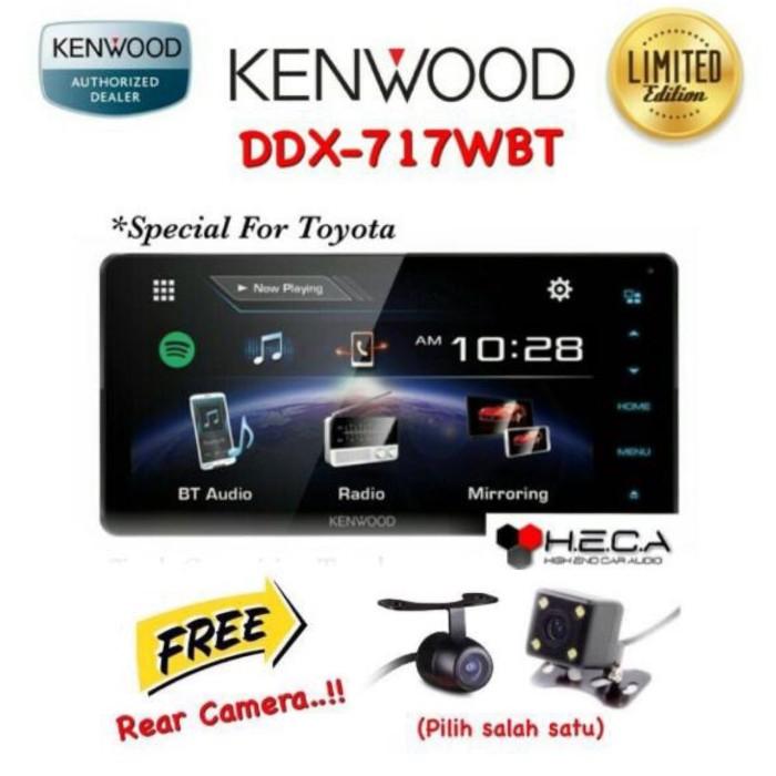 harga Paket kenwood ddx-717wbt head unit double din tape for toyota + camera Tokopedia.com