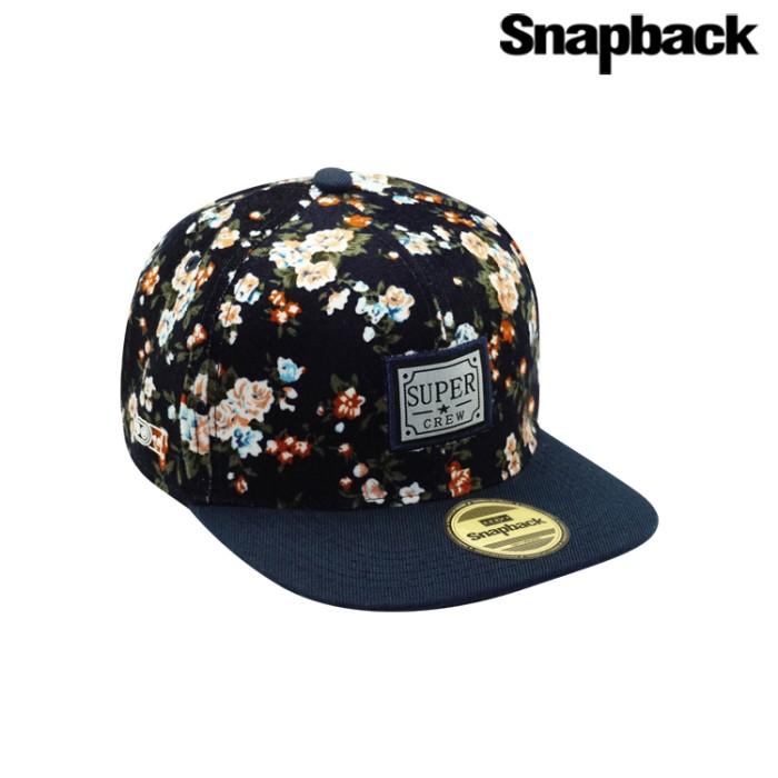 Jual Snapback Topi Hiphop Dewasa Floweret ( Blue ) Harga Promo Terbaru