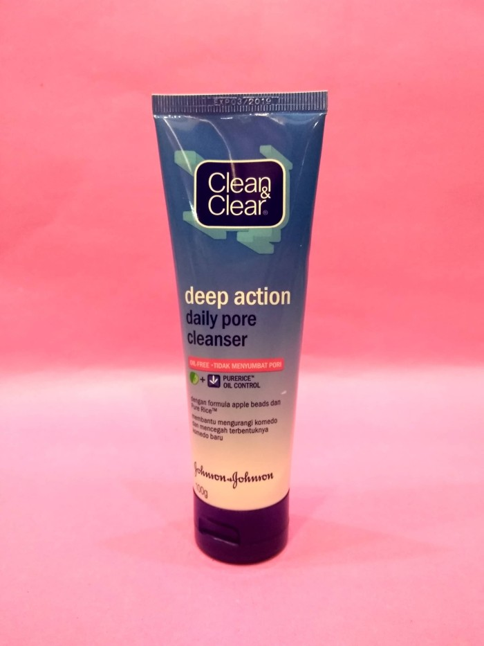 harga Clean & clear deep action daily pore cleanser 100g Tokopedia.com