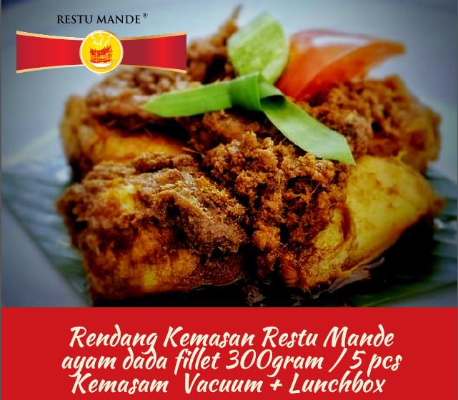 Foto Produk RENDANG AYAM 300 GR Rasa Original - MASAKAN PADANG - RESTUMANDE dari Rendang Padang Kemasan