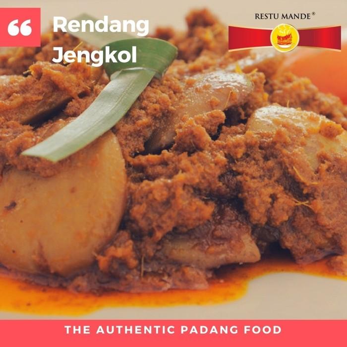 Foto Produk RENDANG JENGKOL 300 GR - MASAKAN PADANG - RESTUMANDE - Hot dari Rendang Padang Kemasan