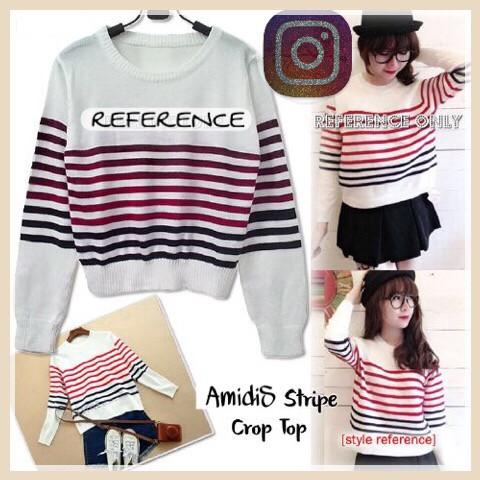 harga Amidis crop top sweater louis rajut murah santana Tokopedia.com