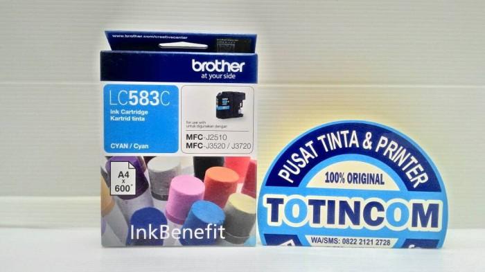 Tinta Brother LC 583 Cyan Magenta Yellow Ink Cartridge Original