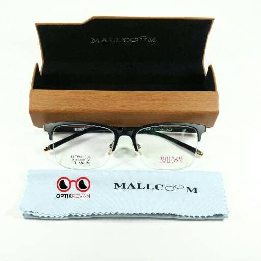 Jual Frame + Lensa Minus - Frame Kacamata Mallcoom Titanium Original ... e2f8e17606