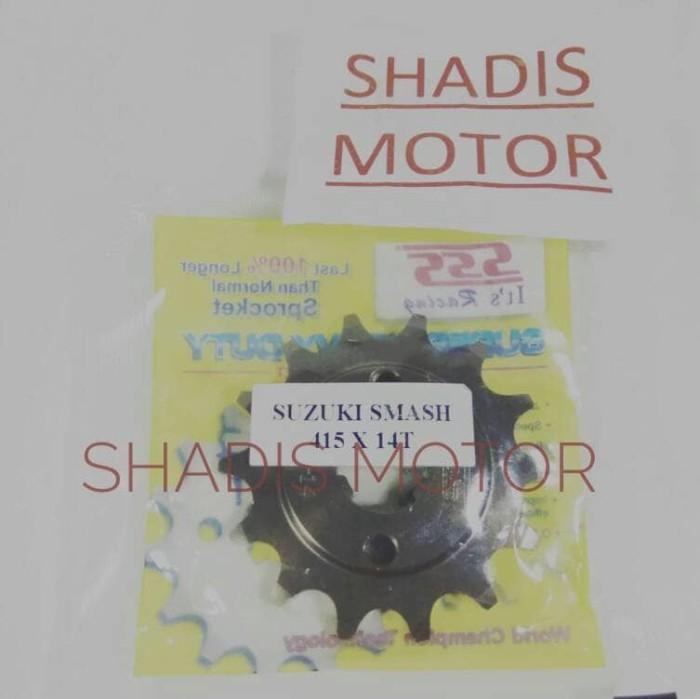 harga Gir depan sss 415 x 14t suzuki smash supra  revo kharisma ger gear Tokopedia.com