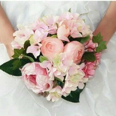 harga Rangkaian bunga peony silk hydrangea artificial import - pastel colour Tokopedia.com
