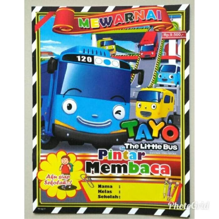 Jual Buku Mewarnai Tayo The Little Bus Buku Mewarnai Anak Tk Paud