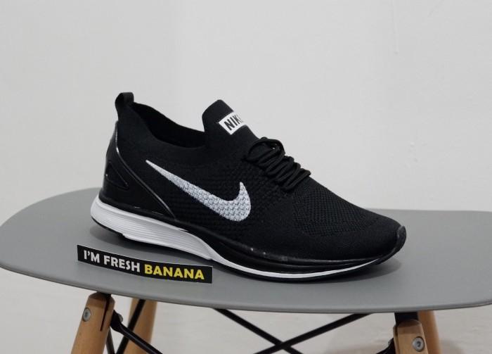 ... original premium quality tl49y fa91a 28aca  uk sepatu running nike  flyknit racer racing black white grey oreo hitam harga 60a5e 53703 a73594ad0f