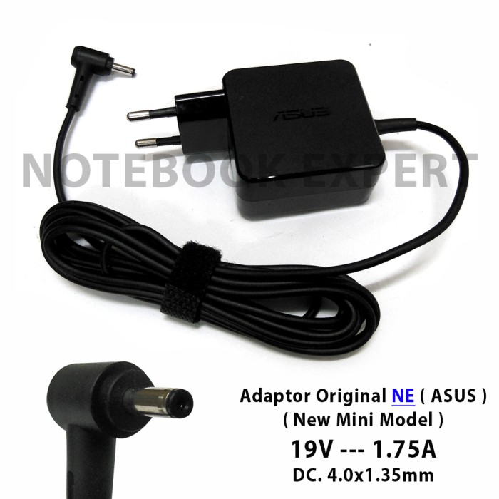 Adaptor Charger Laptop Asus X453 X453M X453MA 19V 1.75A Original .