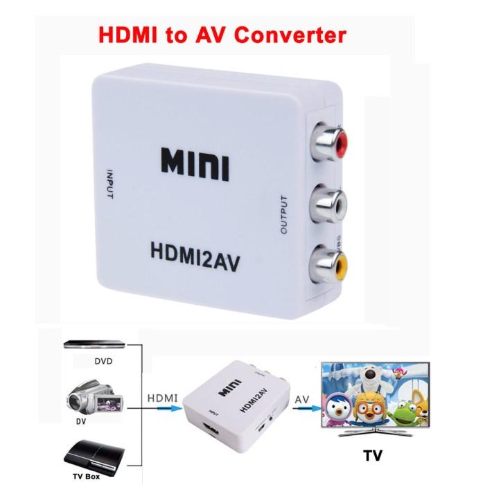 harga Converter box hdmi to rca / av (kuning putih merah) Tokopedia.com