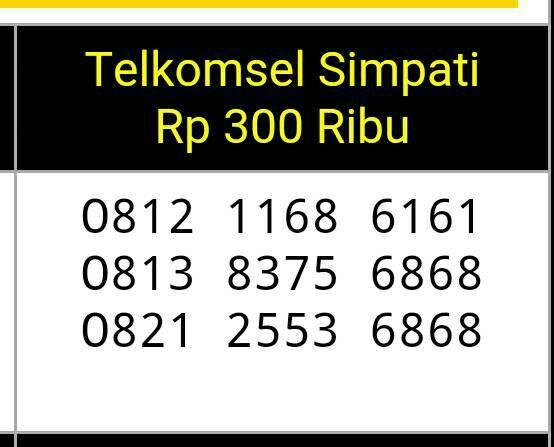 Telkomsel Simpati Nomor Cantik 0812 80000 119 Daftar Harga Source · Nomor Cantik Simpati Double AB