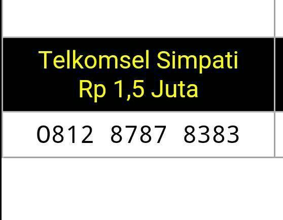 Telkomsel Simpati Nomor Cantik 08121212 2018 Info Daftar Harga Source · Nomor Cantik Simpati Double ABABCDCD