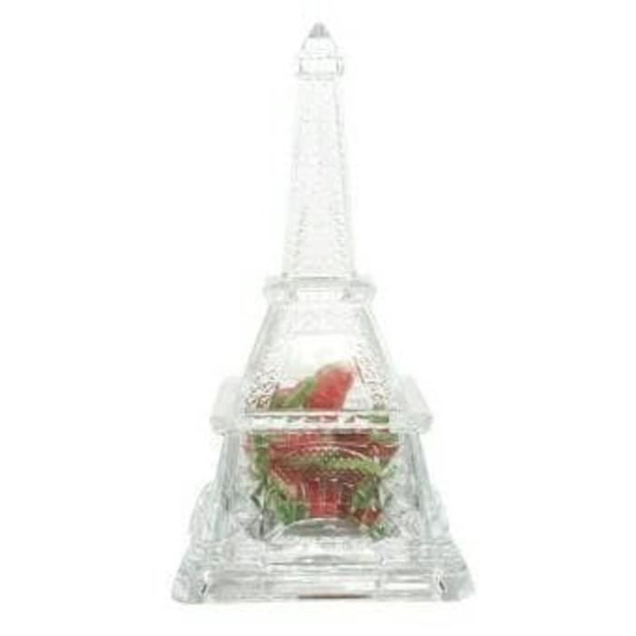 Eiffel candy box vicenza sh5161-o/tempat permen kristal eiffel besar