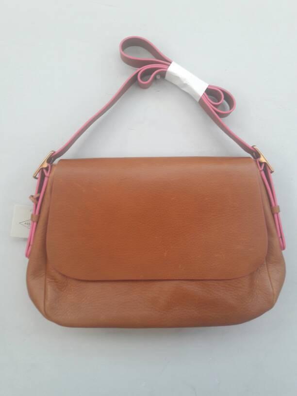 harga Tas kulit fossil harper large saddle brown pink original murah Tokopedia.com
