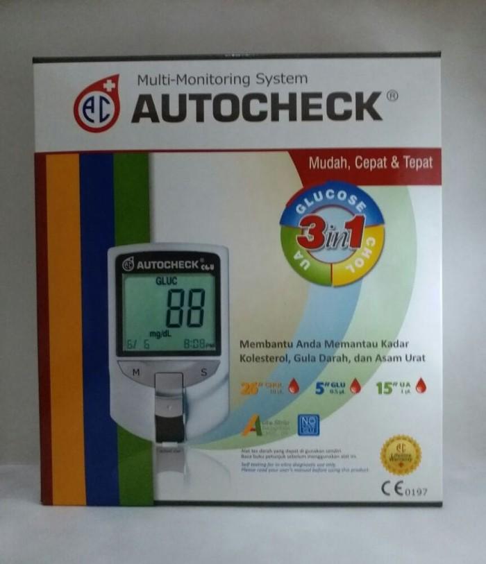 Autocheck multi monitoring system 3in1 (glucose, choles, ua)