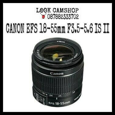 harga Lensa kamera dslr canon ef-s 18-55mm 18-55 f3.5-5.6 is ii Tokopedia.com
