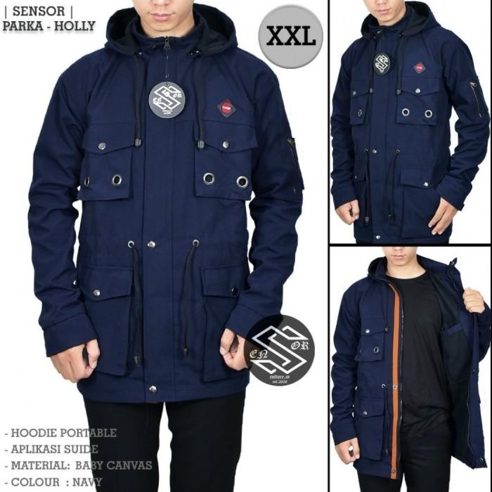 Jaket Parka XXL Cincin Navy/ Jaket Jumbo Navy Casual Pria Premium