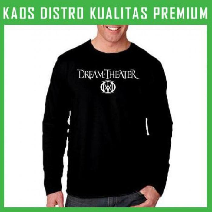 harga Kaos dream theater logo lengan panjang lpg-drt01 Tokopedia.com