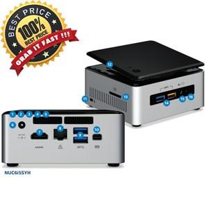 Intel NUC i5 skylake RAM 4GB HDD 500GB DOS NUC6 I5SYH-4H500-DOS