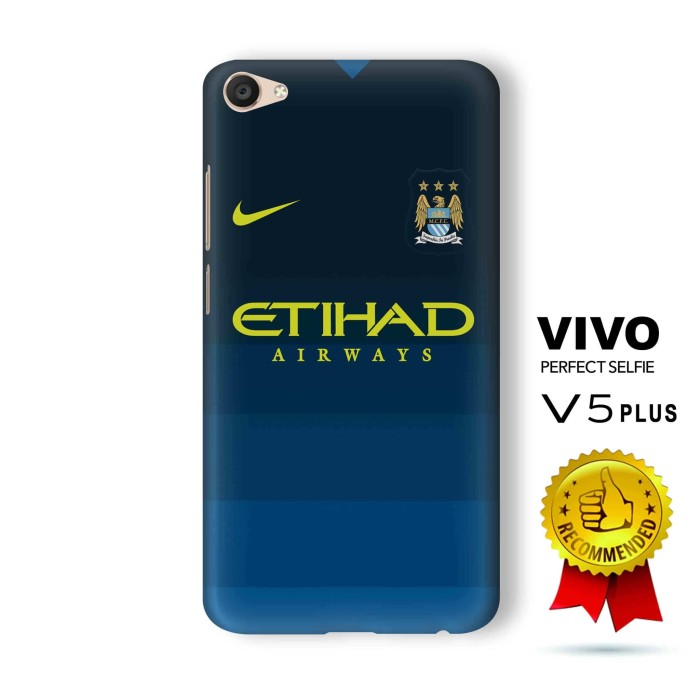 VIVO V5 Plus Casing Custom 3D Full Print Hard Case Manchester City 3rd