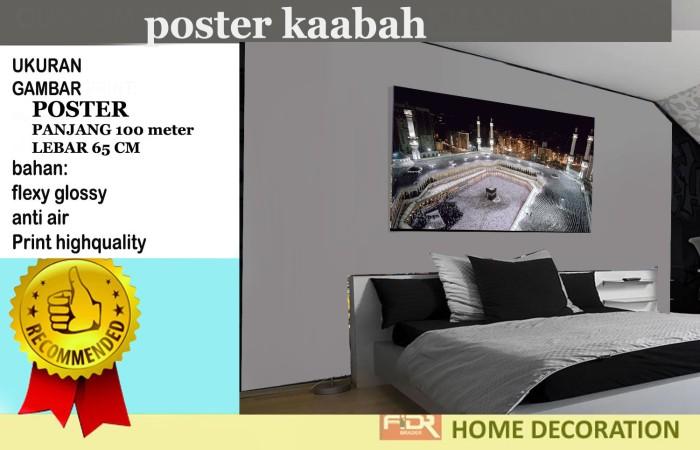 harga Poster dinding hiasan ruangan gambar kabah Tokopedia.com