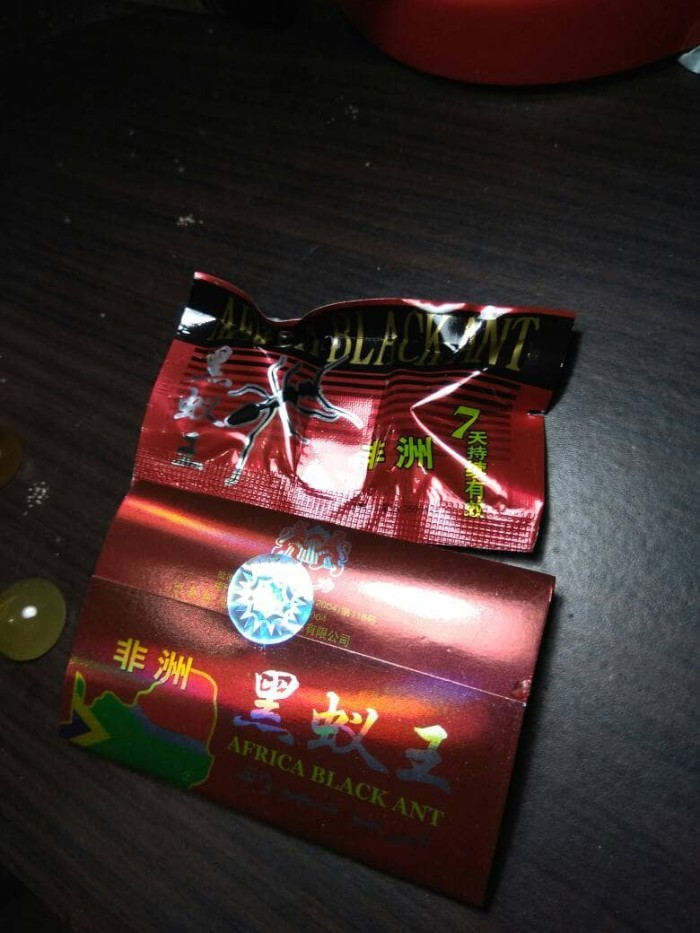 jual semut hitam afrika isi 15 sachet extra kuat titan gel