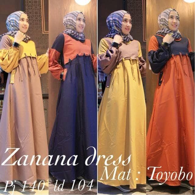 Jual Zanana Dress By Gagil Gamis Dress Hijabers Kekinian Arimby