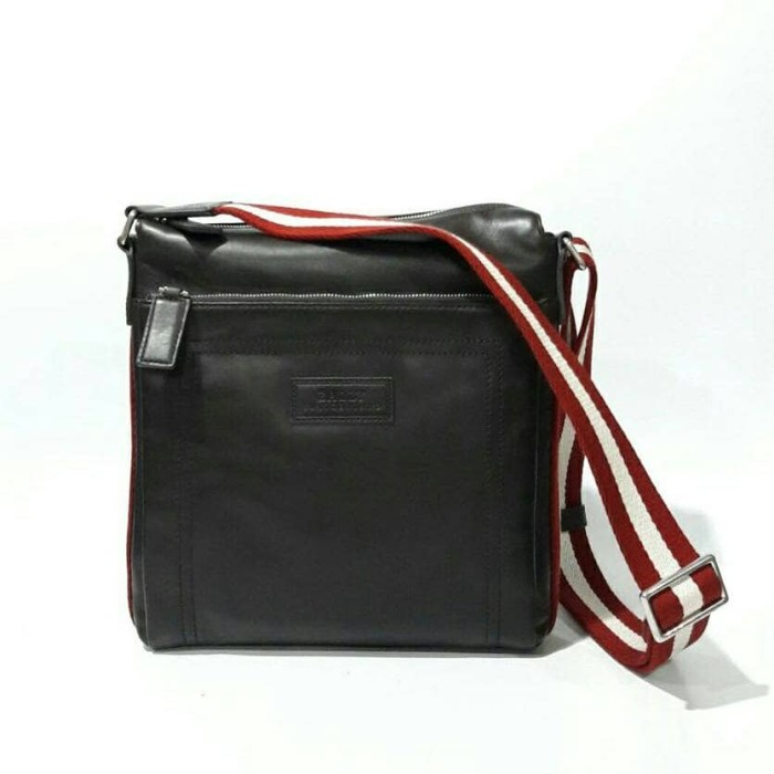 Foto Produk Bally Original Men Sling Bag Black Red Stripe. Tas Bally dari Laristie