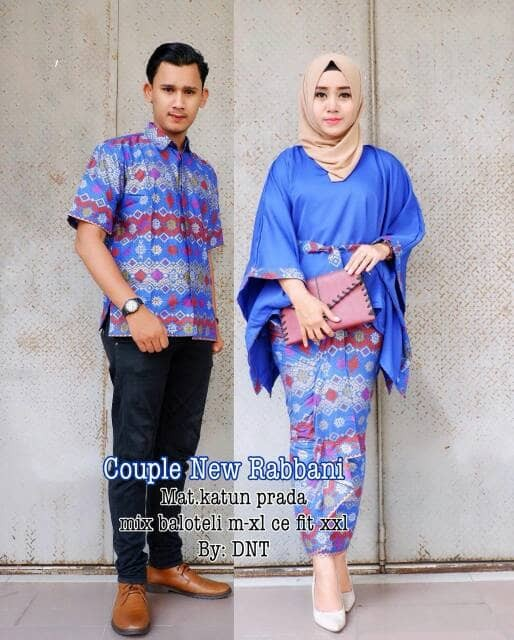 harga Couple batik rok blus batwing new rabbani Tokopedia.com
