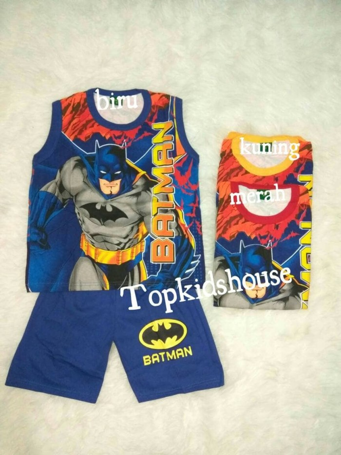 16-18-20 Stelan Singlet Anak Batman