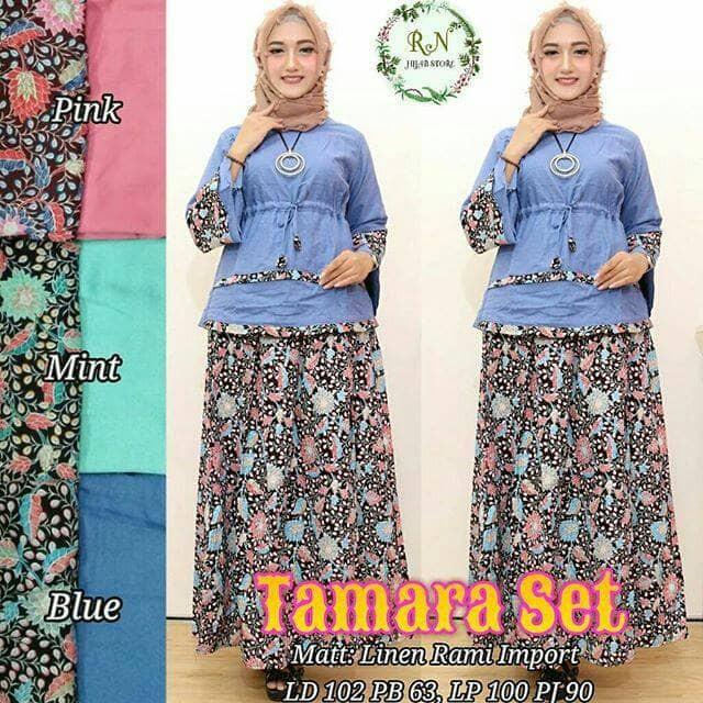 TAMARA SET 155rb BY RN HIJAB batik kebaya setelan couple DRES MUSLIM f