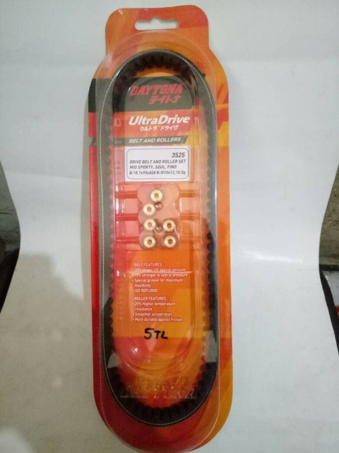 harga V Belt Fanbelt Dan Roller Racing Daytona Mio Sporty Mio Soul Tokopedia.com