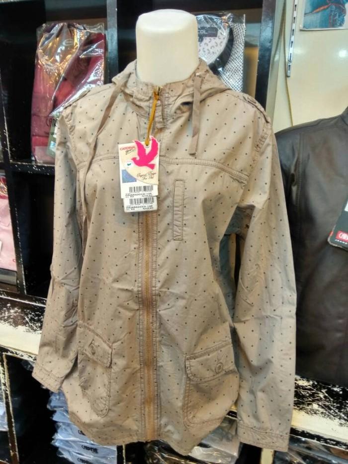 harga Jaket cewek: cardinal cotton original krem motif Tokopedia.com