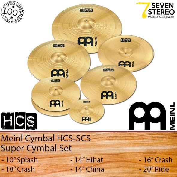 harga Meinl hcs-scs super cymbal set 14 hihat 16 18 crash 10 splash 20 ride Tokopedia.com